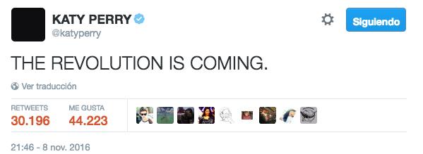 Katy Perry twitter revolución