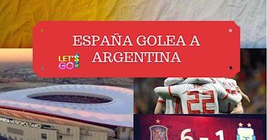 España golea a Argentina